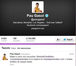 Pau Gasol - pofessional basketball player for the Los Angeles Lakers (NBA)